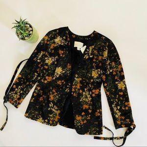 NWT Hinge Floral Velvet Blazer | S